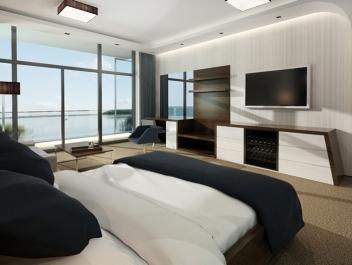 Koncepcja pokojów hotelowych - Hotel Mikołajki